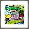 Quilted Bath County Barn Framed Print