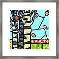 Quilted Birch Garden Framed Print