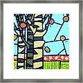 Quilted Birch Garden Framed Print