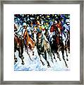 Race On The Snow Framed Print