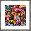 Radioactive Mushrooms Framed Print