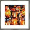 Rain Impression Framed Print