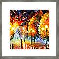 Rain In The Night City Framed Print