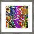 Rainbow Animals Yoga Mat Framed Print