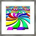 Rainbow Spectral Swirl Framed Print