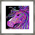 Rainbow Spotted Horse Head 2 Framed Print