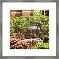 Ram Statue Framed Print