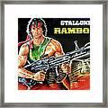 Rambo 2 Sylvester Stallone Paintinf Framed Print