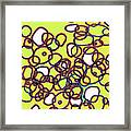 Random Cells 4 Framed Print