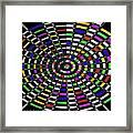 Random Color Oval Abstract Framed Print