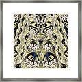 Rca Lyra Pattern Framed Print