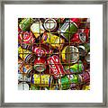 Recycling Cans Framed Print