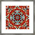 Red And Blue Stones Framed Print