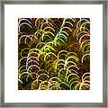 Red And Green Half Circle Lights Abstract Framed Print