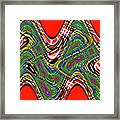 Red And Green Thing Framed Print