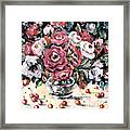Red And White Roses II Framed Print