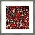 Red Existence Framed Print