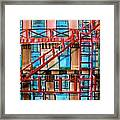 Red Fire Escape Framed Print