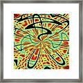 Red Green Yellow And Black Abstract Framed Print
