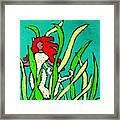 Red Head Mermaid Framed Print