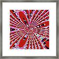 Red Heavy Screen Abstract Framed Print