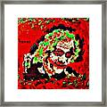 Red Joker Framed Print