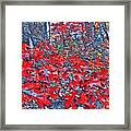 Red  Oak Leaves  Framed Print