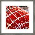 Red Paddle Wheel Framed Print