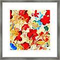 Red Wild Flowers Framed Print