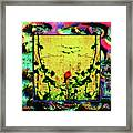 Redbird In The Valley Of Beautiful Possibilities Framed Print