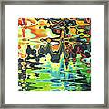 Reflections On Color Framed Print