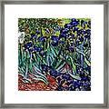 replica of Van Gogh irises Framed Print
