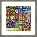 Restaurant La Tortilleria Du Marche Montreal Watercolor Streetscenes Little Italy Paintings Cspandau Framed Print