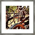 Retired Wheels Framed Print