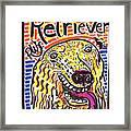 Retriever Framed Print by Robert Wolverton Jr