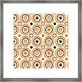 Retro Circles Pattern Framed Print