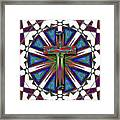 Retro Cross Framed Print