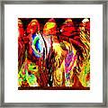 Rhythm Of The Dancing Fires Framed Print