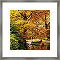 Ride On The Boat Framed Print