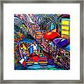 Riding The River Framed Print