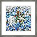 Rodeo Wrangler Mosaic Framed Print