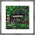 Rooster Hollow Framed Print
