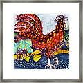 Rooster In The Morning Framed Print by Carol  Law Conklin