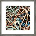 Rope Background Framed Print by Carlos Caetano