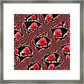 Rose Tiles Framed Print