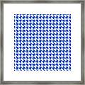 Rounded Houndstooth White Background 18-p0123 Framed Print