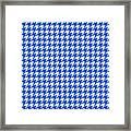 Rounded Houndstooth White Pattern 18-p0123 Framed Print