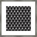 Rows And Rows Of Anonymous Faceless People Framed Print