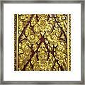 Royal Palace Gilded Door 02 Framed Print