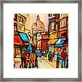 Rue St Jacques Old Montreal Streets  Framed Print